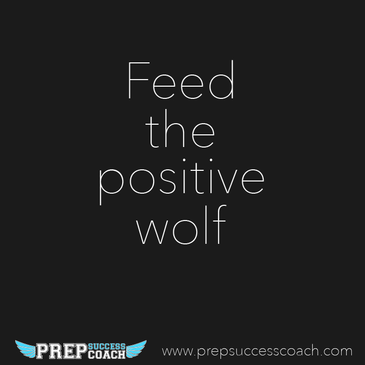 Feed the positive wolf