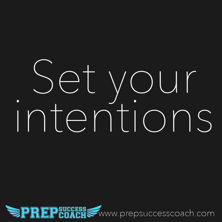 Setting your intentions before practice or a game