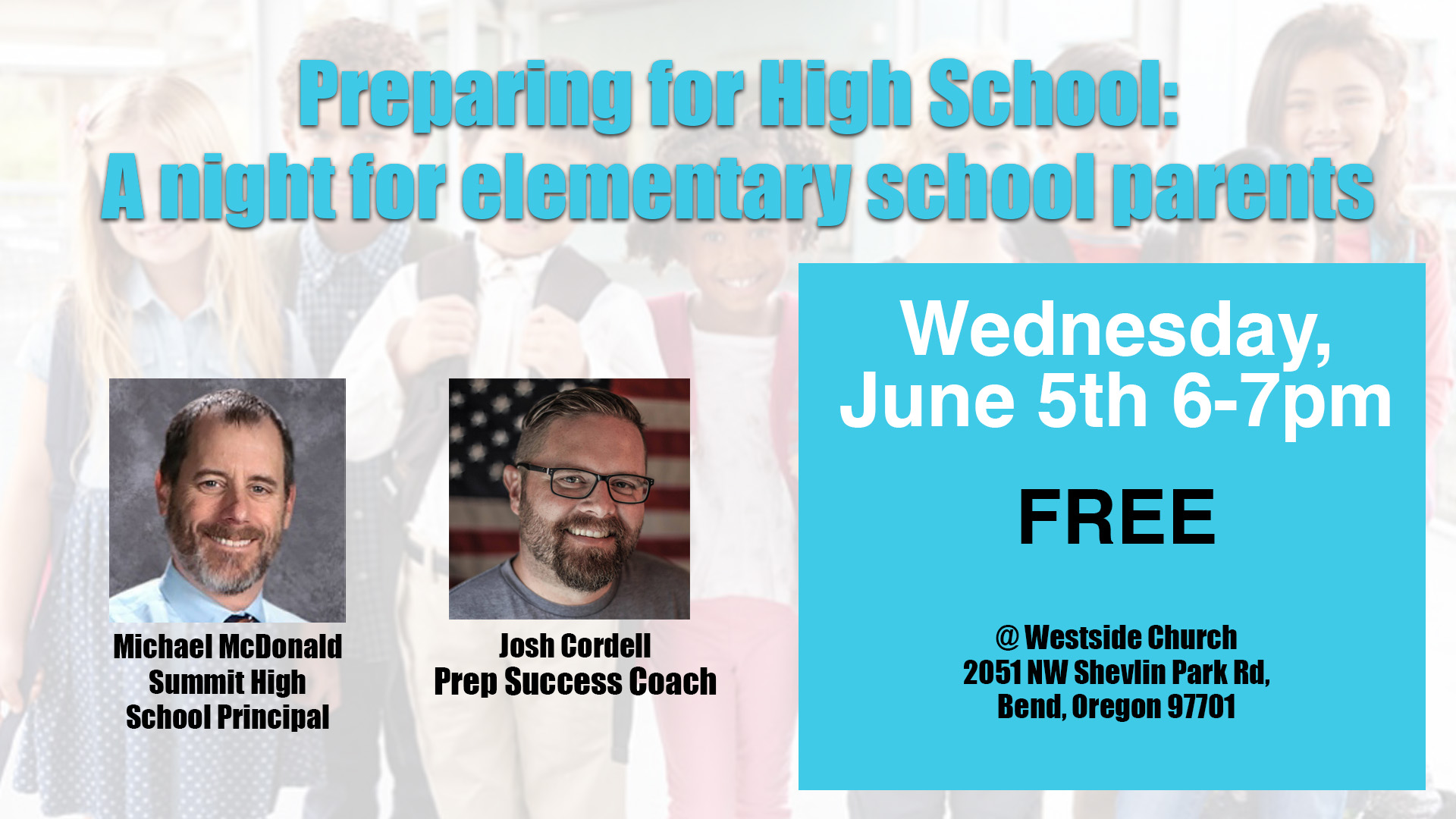 Preparing for High School: A night for elementary school parents